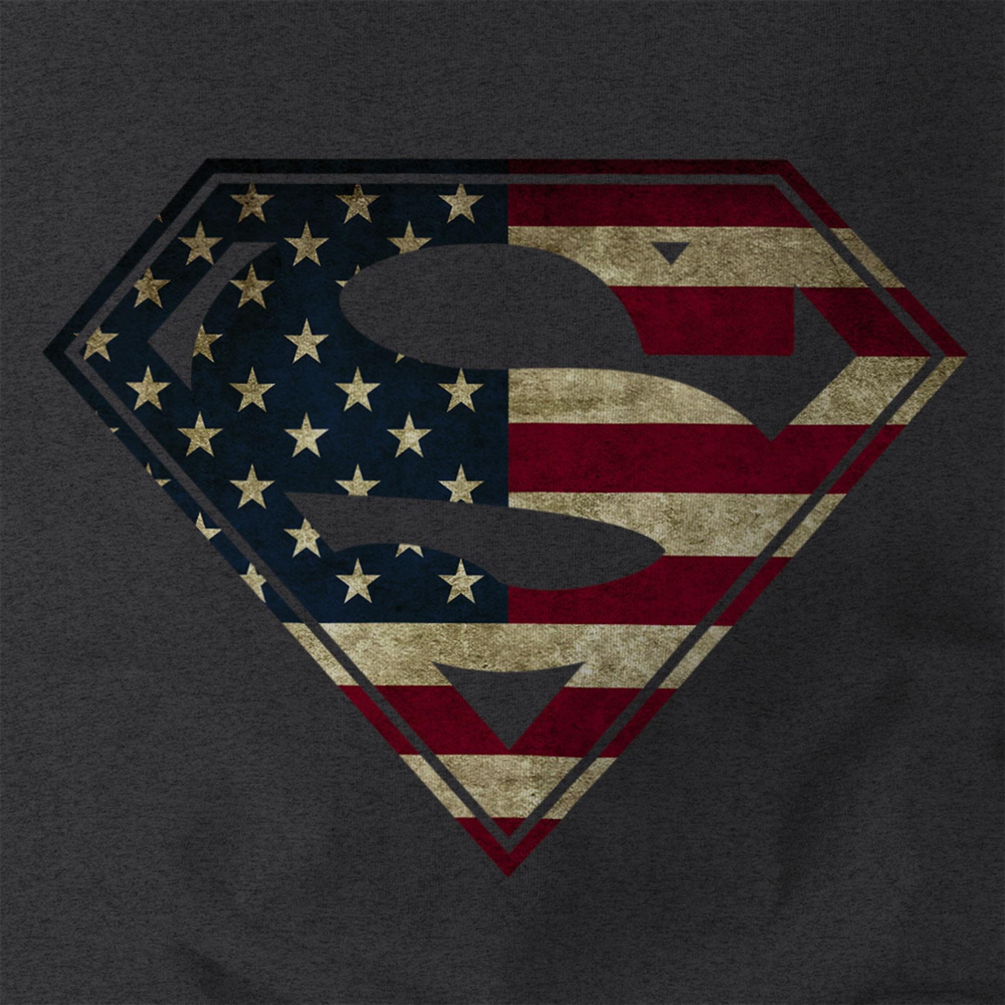 3bb876371af American-Flag-Superman-Logo-Shield-Mens-T-shirt-